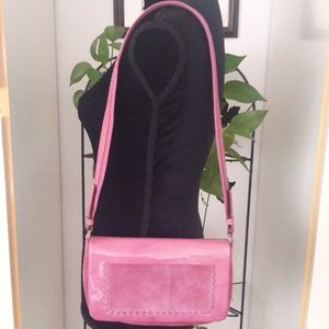 🌹AUTHENTIC PINK PRADA SUEDE/PATENT LEATHER BAG